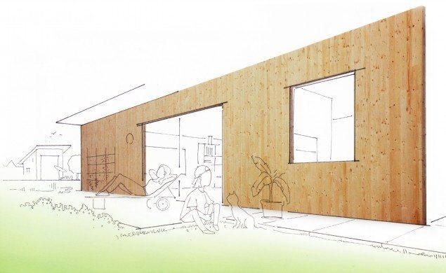 cross laminated timber panel gandelli group gandelli house