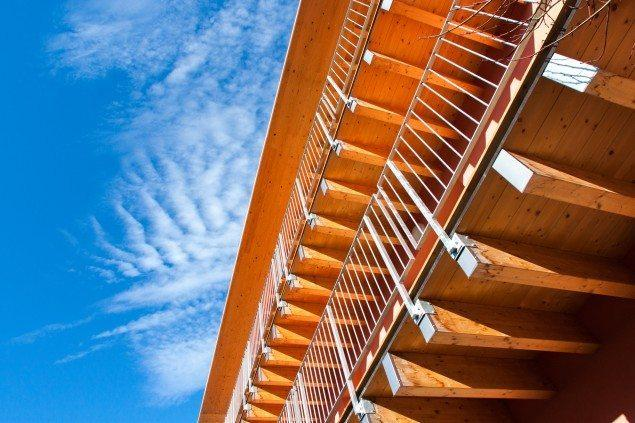 Covered terraces in glulam wood