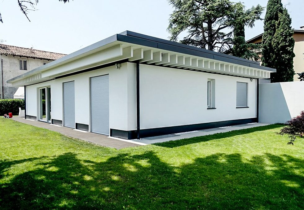 Villa le la villa in legno con gandelli house gandelli group for Villa legno
