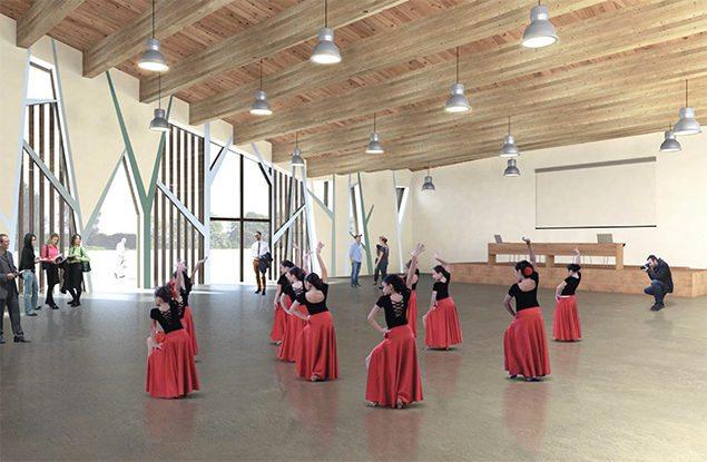 centro polifunzionale in legno montalenghe render gandelli legnami