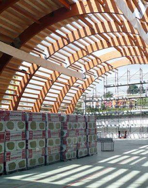 palestra copertura in legno velo veronese gandelli legnami